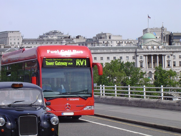 London fuel cell bus and taxi