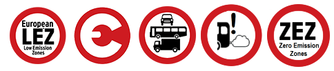 Zugangsvorschriften für städtische Fahrzeuge und Umweltzonen