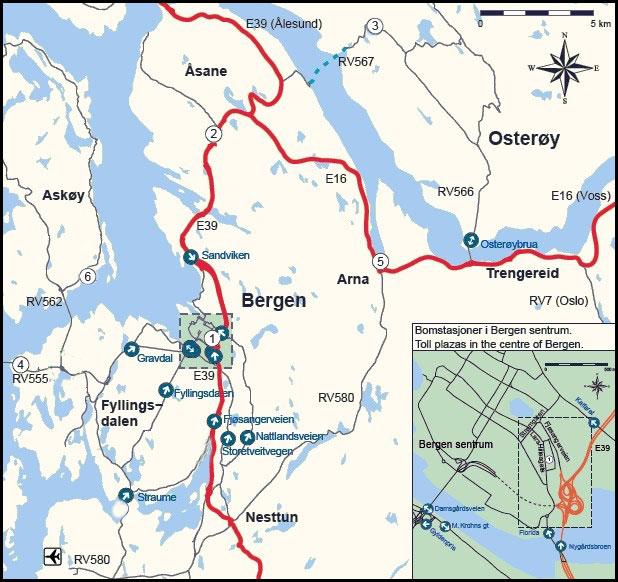 Mappa di Bergen