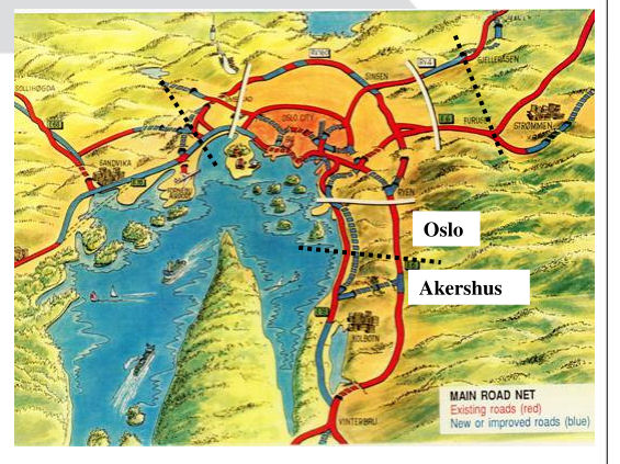 mapa Osloko