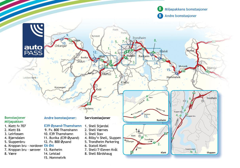 Trondheim mapa