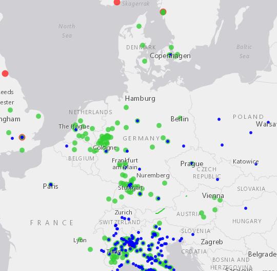 Mappa dei Regolamenti europei di accesso