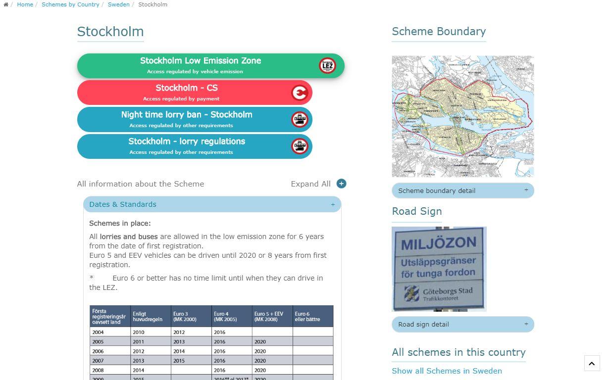 Information de la ville sur les frais de ville dans la zone à faibles émissions