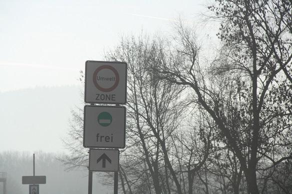 Sinal alemão de Umweltzone de Freiburg
