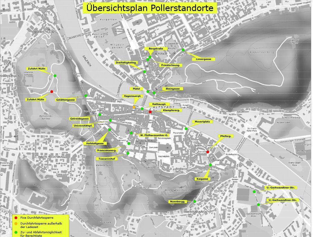 Салцбург мапа