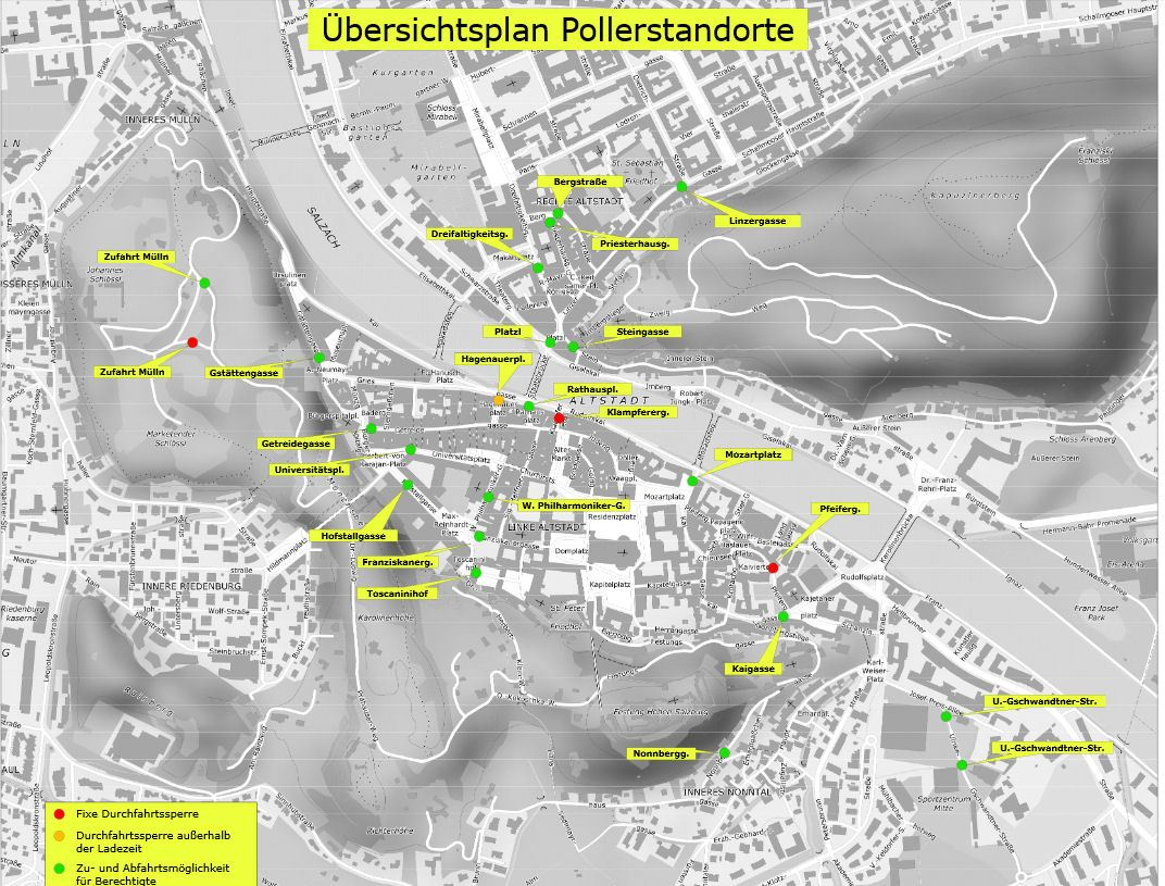 Salzburg kartta