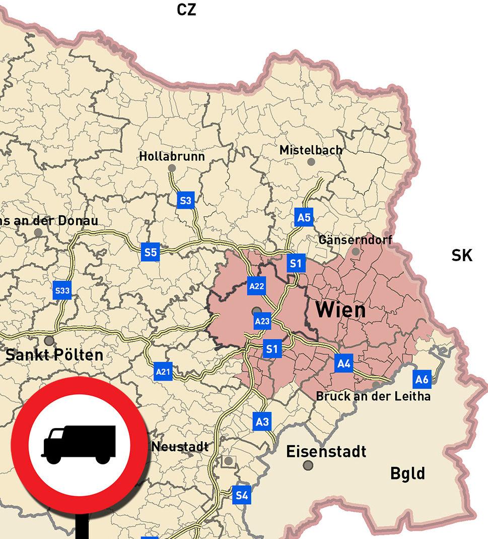 Niederösterreich karta