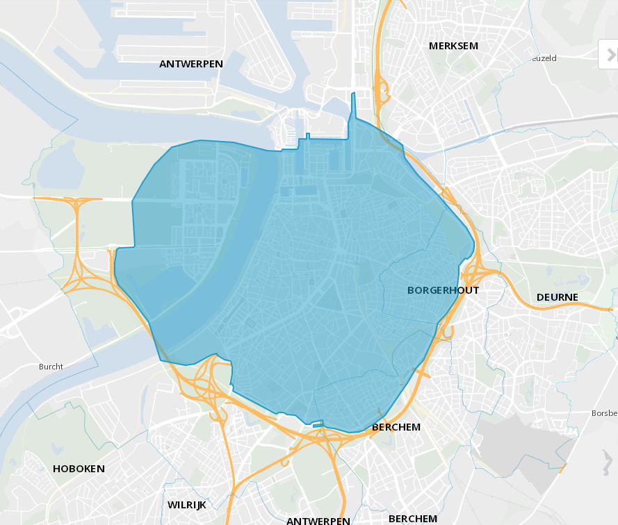 Antwerp, Belgium low emission zone