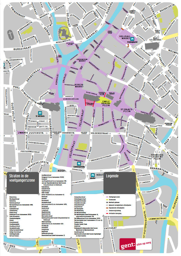 Gent térképen