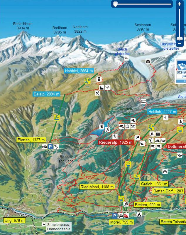 Riederalp map