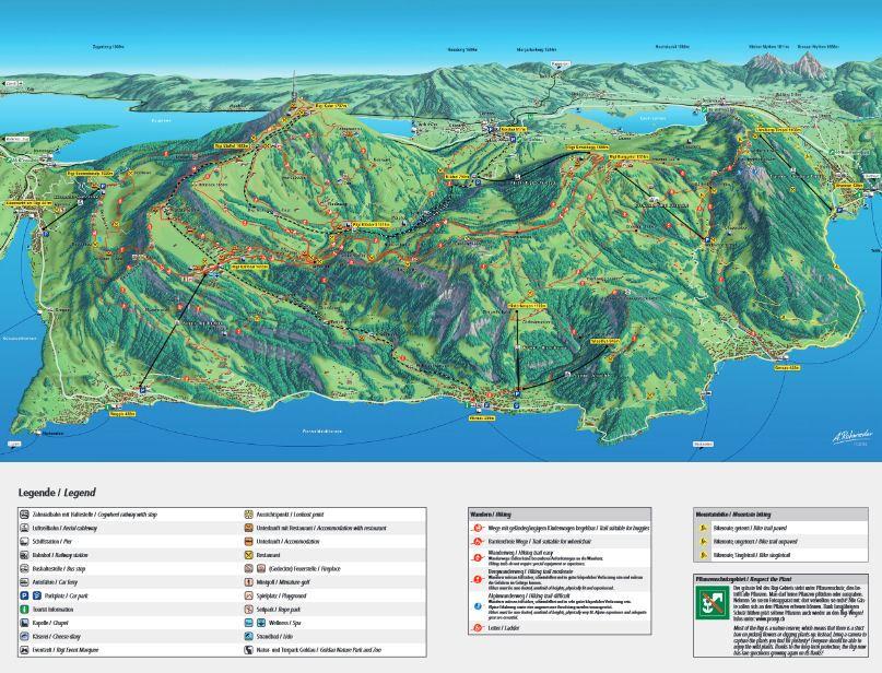 mapa Rigi