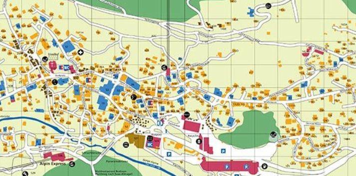 Mapa de Saas-Fee