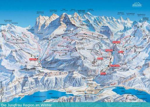 mapa Wengen