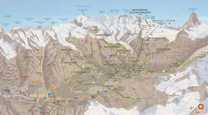 Карта Zermatt