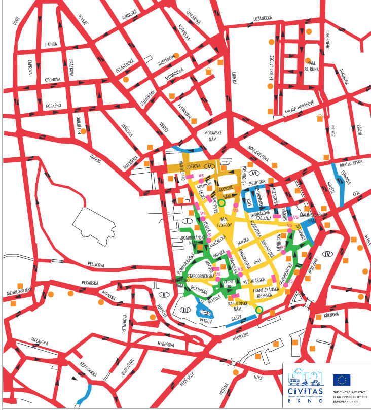 карта Брно