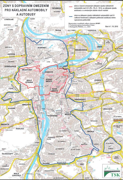 Praha mapa permís