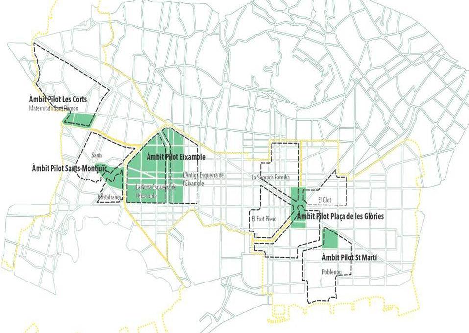 Planuojamos superblokach Barselona