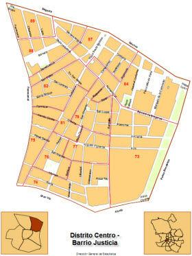 Мадрид мапа Јустициа