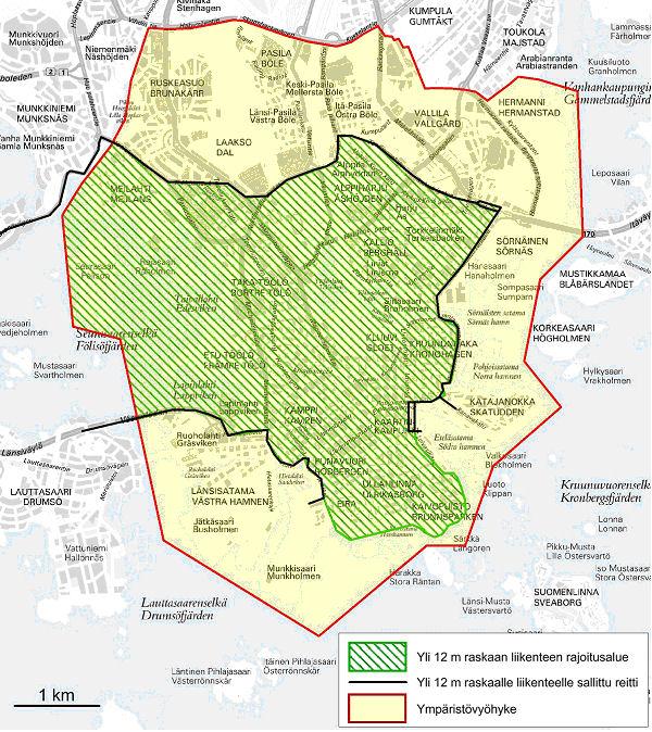 Helsinki Mapa obu systemów