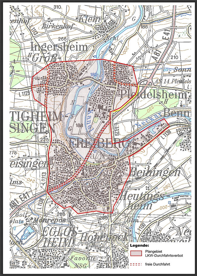Pleidelsheim mapa AR