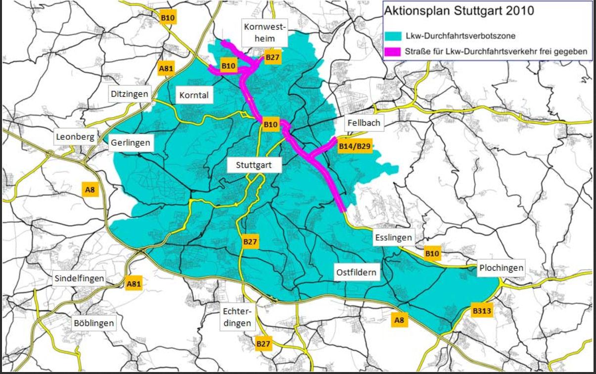 Stuttgart kartalla AR