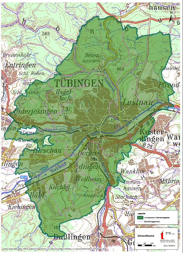 Tübingen LEZ map