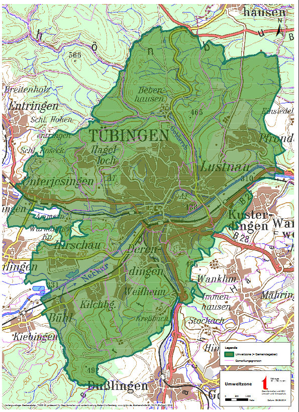 Tübingeni LEZ kaart