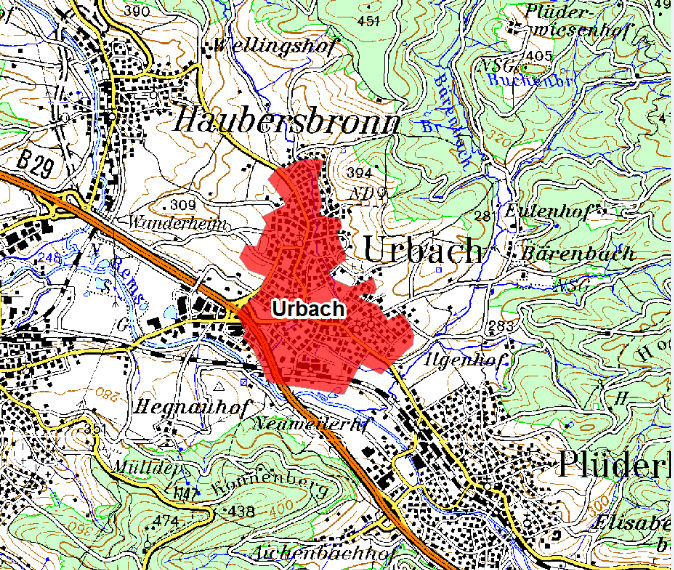 Germany Urbach low emission zone map