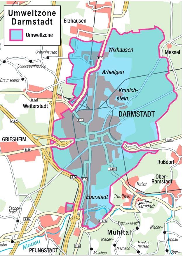 Darmstadt kaart