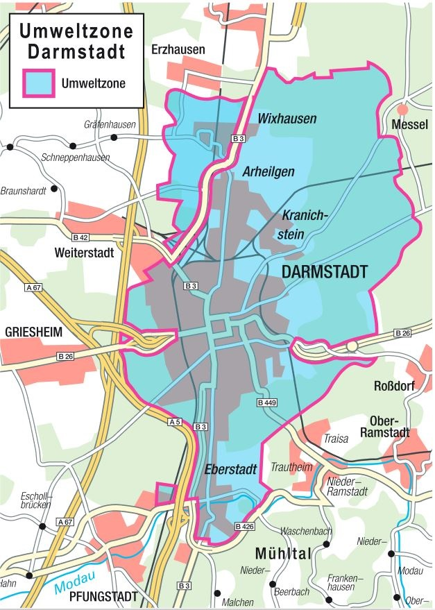 mapa de Darmstadt