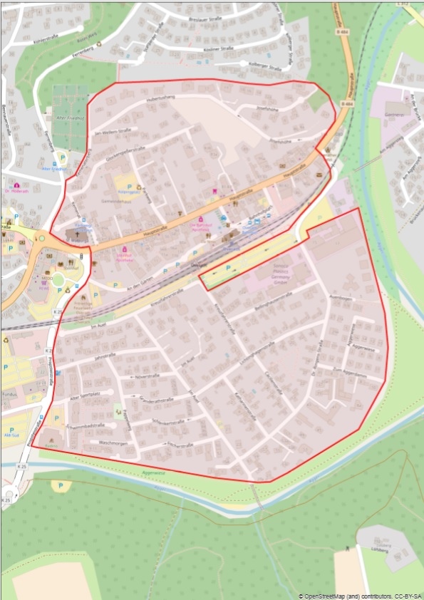 Germany NRW Overath low emission zone map