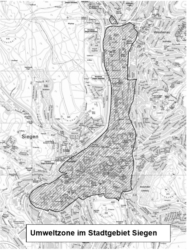 Siegen žemėlapis