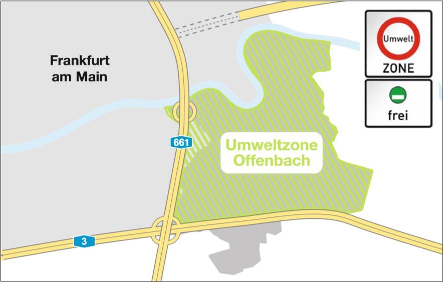 DE Offenbach kaart