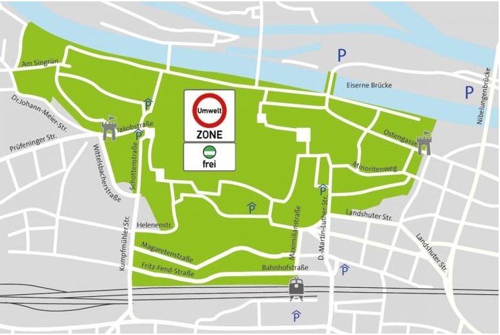 Regensburg mapa