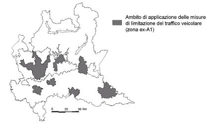 Lombardia totes les zones mapa LEZ
