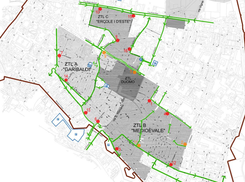 Φεράρα map1