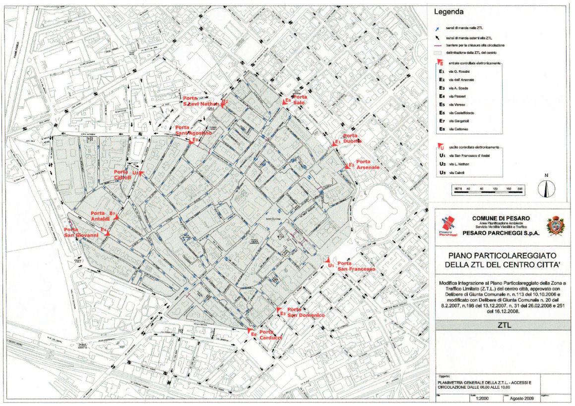 Mapa Pesaro