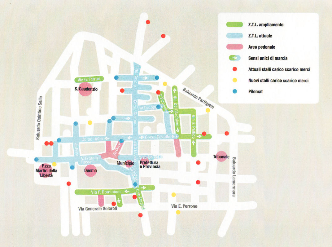 Novara žemėlapis