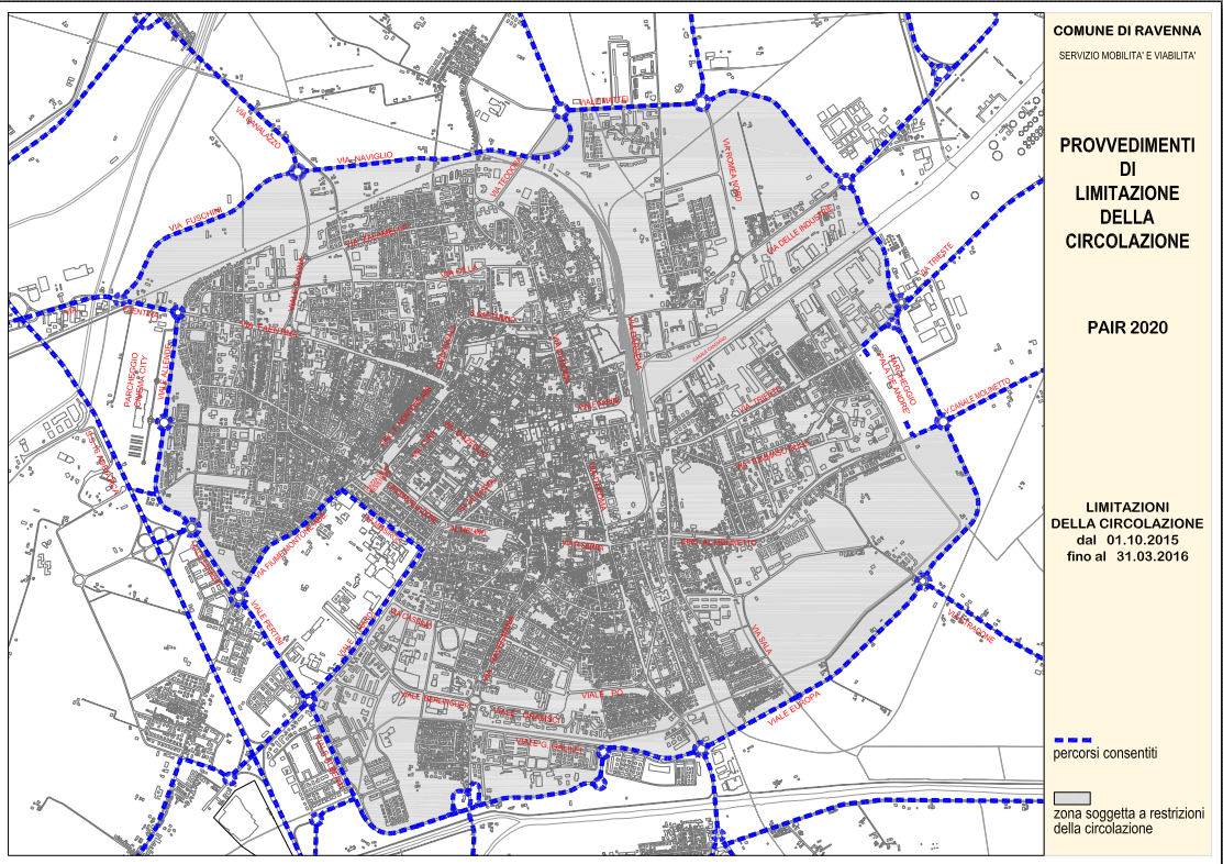 Mapa Rávena