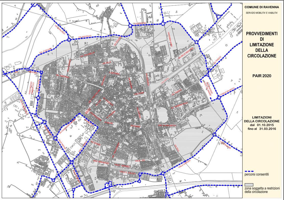 Ravenna картата
