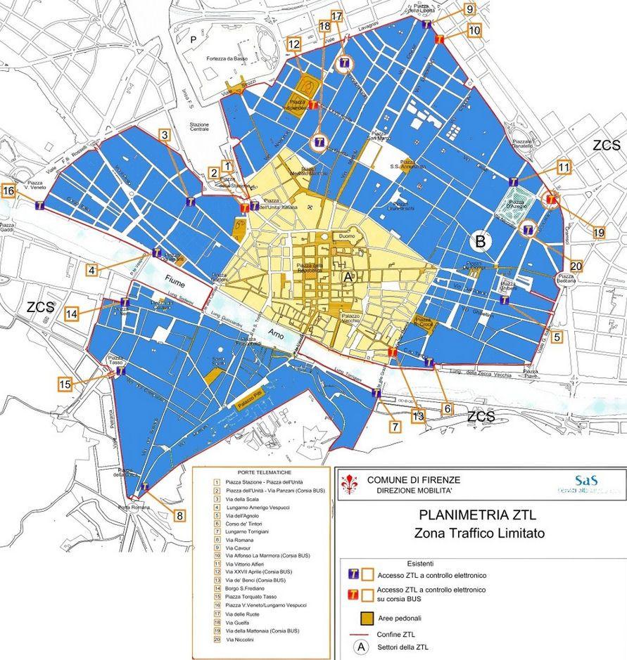 Фиренца мапа