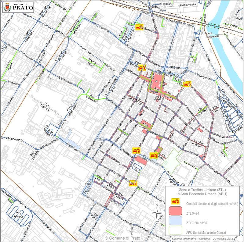 mapa Prato