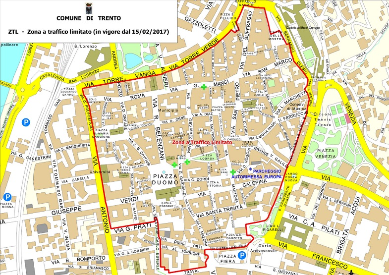 Trentoko mapa