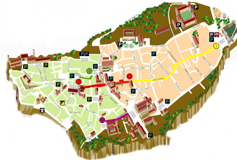 Orvieto kaart