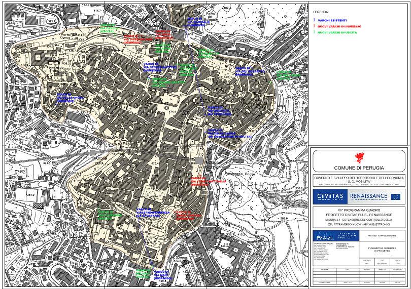 Perugia kaart
