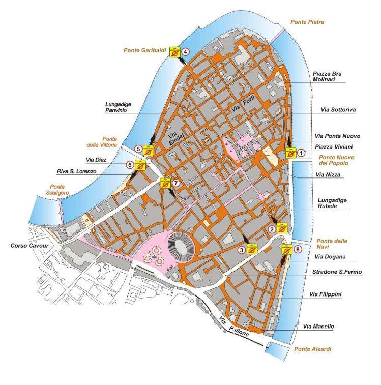 Map Of Italy Showing Verona.Verona Ar