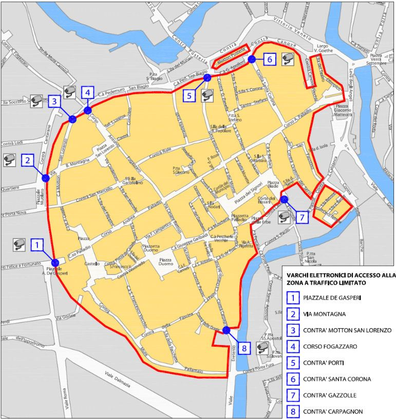Vicenza map