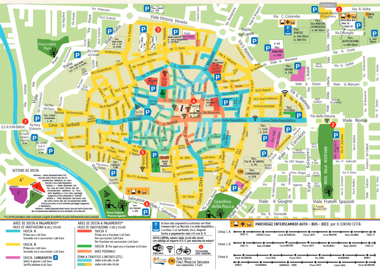 Forli LEZ žemėlapis