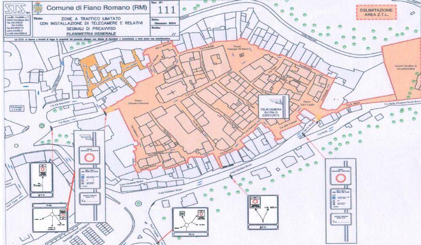 Mapa de Fiano Romano