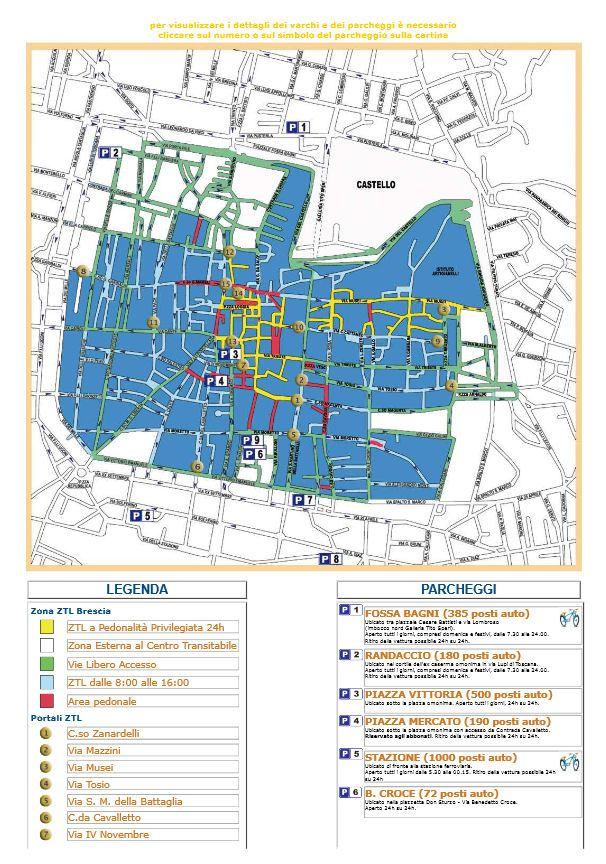 Brescia kaart